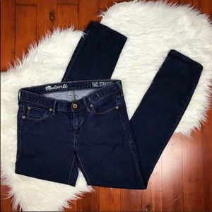 Madewell Rail Straight Dark Blue Denim Jeans 28x34